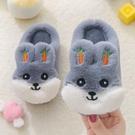 兒童棉拖鞋冬季男女童可愛寶寶鞋小孩網紅毛毛鞋包跟室內軟底拖鞋 新年禮物