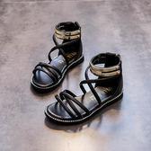 2018夏季新款韓版女童涼鞋小公主綁帶露趾中大童女孩涼鞋兒童鞋子 至簡元素