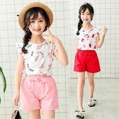 【全館】現折200女大童夏季兩件套新款正韓潮兒童裝中大童夏裝女童休閒套裝