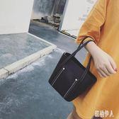 韓版手拎小包包2019新款港風簡約單肩包學生百搭子母包女 PA6793『紅袖伊人』