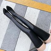 膝上靴 長靴女新款長筒靴女過膝高跟顯瘦腿尖頭軟皮面超長大腿細跟長靴【八折搶購】