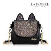 側背包 閃耀貓星人貓耳朵造型側背包 2色 -La Poupee樂芙比質感包飾 (現貨+預購)