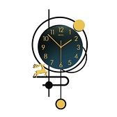 北歐簡約家用掛墻鐘表客廳時尚創意網紅掛鐘輕奢裝飾個性現代時鐘中秋特惠