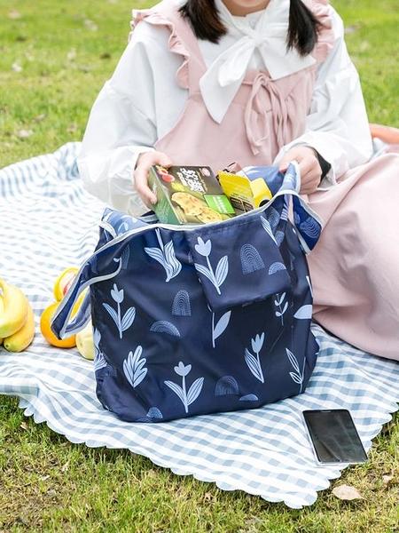 便攜可折疊購物袋 小號環保袋大容量超市潮牌女包買菜肩跨手提袋J