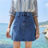 [S-5XL] 新品大碼高腰a字牛仔短裙女學生包臀半身裙子 - 風尚3C