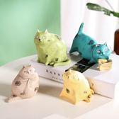 創意桌面貓咪小擺件迷你可愛動物家居客廳臥室軟裝飾品
