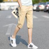 男短褲七分褲男裝百搭修身潮流韓版休閒褲子《印象精品》t742