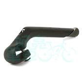 *阿亮單車*自行車鎖牙式龍頭豎管,對應手把25.4~26.0mm,黑色《A52-414》