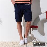 【JEEP】輕時尚口袋工作短褲 (深藍)