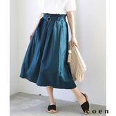 荷葉裙襬 棉麻 輕便長裙『Liniere』6月號刊載【coen】