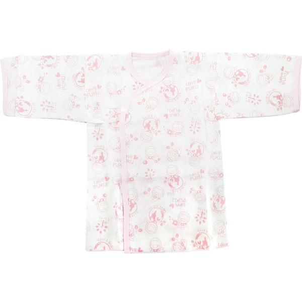 【奇買親子購物網】PUKU 印花紗布肚衣(藍/粉)