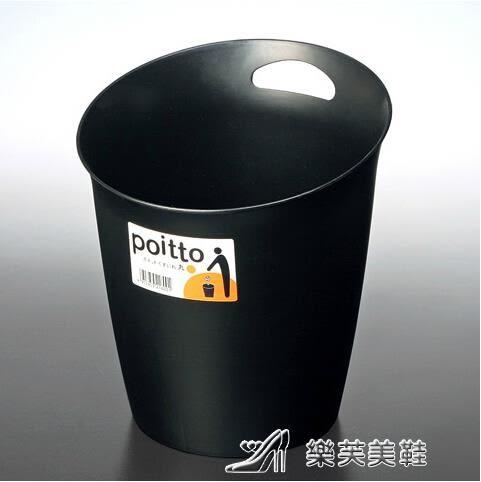 垃圾桶 收納桶 圓桶式紙婁 黑色垃圾筒 紙筒 igo 樂芙美鞋