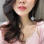 耳環韓國簡約百搭耳飾品個性夸張吊墜潮人網紅耳墜長款氣質耳釘女【櫻花本鋪】