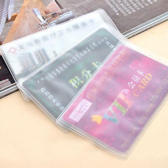 卡片套 磨砂 透明 身份證套 保護套  悠遊卡套 銀行卡套 證件套 會員卡 信用卡套【F059】慢思行