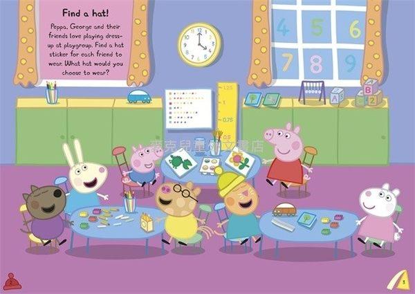 【佩佩豬】PEPPA PIG :FIND-THE-HAT /貼紙書