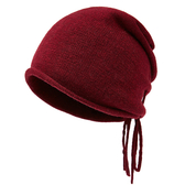 羊毛毛帽-抽繩百搭純色毛線男針織帽4色73wj17【時尚巴黎】