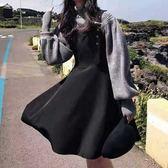 中大尺碼L-4XL秋冬藏肉時髦套裝潮網紅顯瘦減兩件套連衣裙3F057.9208胖胖唯依