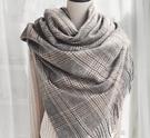 英倫長款仿羊絨圍巾女秋冬季加厚保暖多功能韓版百搭羊毛披肩斗篷 享購