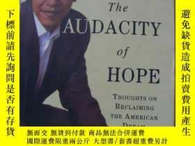 二手書博民逛書店BARACK罕見OBAMA THE AUDACITY OF HOPE【英文書】32開.【外文書--28】Y16