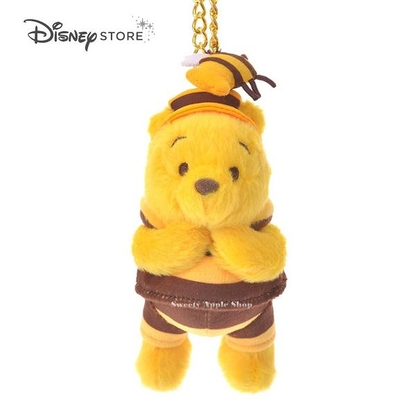 (現貨)日本DISNEY STORE 迪士尼商店限定 小熊維尼 Hunny Funny Sunny 蜜蜂裝 掛鍊 娃娃玩偶吊飾