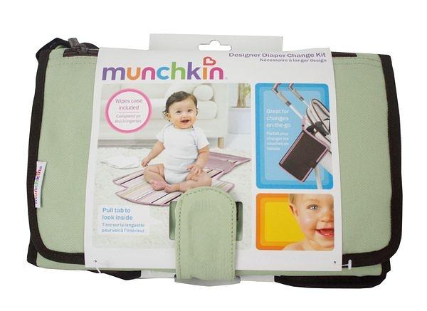 綠色 美國 Munchkin多功能寶寶尿墊 外出型尿布墊 多用途尿墊-超級BABY