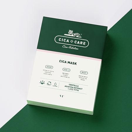 韓國 VT CICA 老虎面膜 (10片入/盒裝) 25gx10  老虎面膜 老虎積雪草面膜 張韶涵推薦