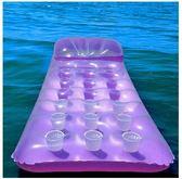 單人沙灘休閒水上浮排充氣墊加厚SJ669『時尚玩家』