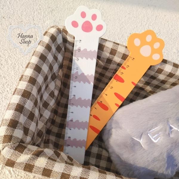 《花花創意会社》外流。Cat萌萌貓掌量尺學生文具ZAKKA木製書籤【H7154】