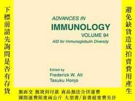 二手書博民逛書店Aid罕見For Immunoglobulin DiversityY255562 Alt, Frederick