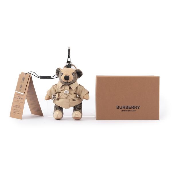 【BURBERRY】Thomas 泰迪熊風衣造型吊飾/Key圈(經典米色) 8027168