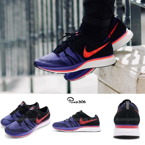 Nike Flyknit Trainer 紫 紅 黑 蜘蛛人 飛線編織 男鞋 慢跑鞋 【ACS】 AH8396-003