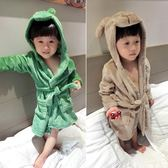 兒童法蘭絨睡衣浴袍秋冬季小童寶寶睡袍女童小孩男童珊瑚絨家居服 滿天星