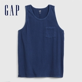Gap男裝活力亮色圓領無袖上衣573396-經典新海軍藍