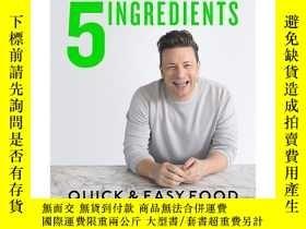 二手書博民逛書店5罕見Ingredients 5種食材 快速簡單菜譜 Jamie Oliver傑米奧利弗Y21066 Jami