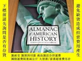 二手書博民逛書店ALMANAC罕見OF AMERICAN HISTORY美國曆史