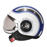 【東門城】ZEUS ZS218 SS6 (消光藍白) 半罩式安全帽 復古帽