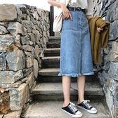 加大碼半身裙女胖mm夏季牛仔裙中長款胖妹妹A字裙200斤裙子高腰 潮人女鞋