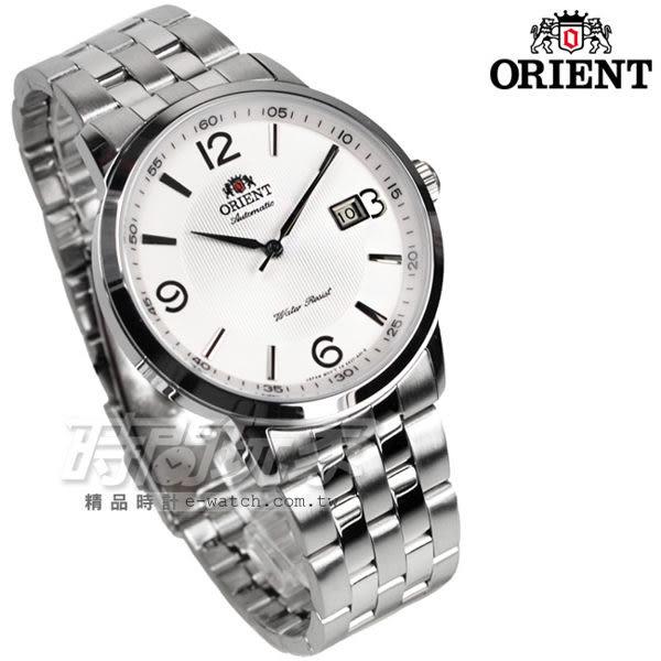 ORIENT東方錶 機械錶 白面 數字錶 不鏽鋼錶帶 日期顯示窗 男錶 時間玩家 FER2700CW