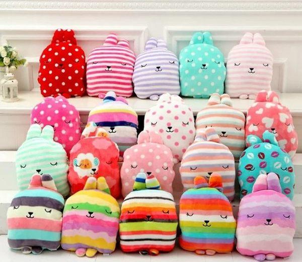 【大量現貨】日本梨花兔抱枕手暖毛毯三合一毯,室內用車用都超方便/珊瑚絨毯【H00183】
