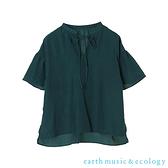 「Hot item」綁帶喇叭袖剪裁上衣 - earth music&ecology