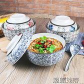 日式泡面碗帶蓋蒸蛋碗有蓋燉盅陶瓷方便面碗家用油碗宿舍碗【潮咖地帶】