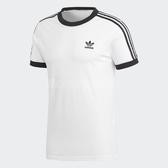 adidas 短袖T恤 3-Stripes Tee 白 黑 女款 三條線 三葉草 純棉 【PUMP306】 DH3188