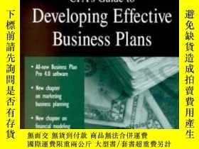 二手書博民逛書店2001罕見Cpa s Guide To Developing Effective Business Plans-