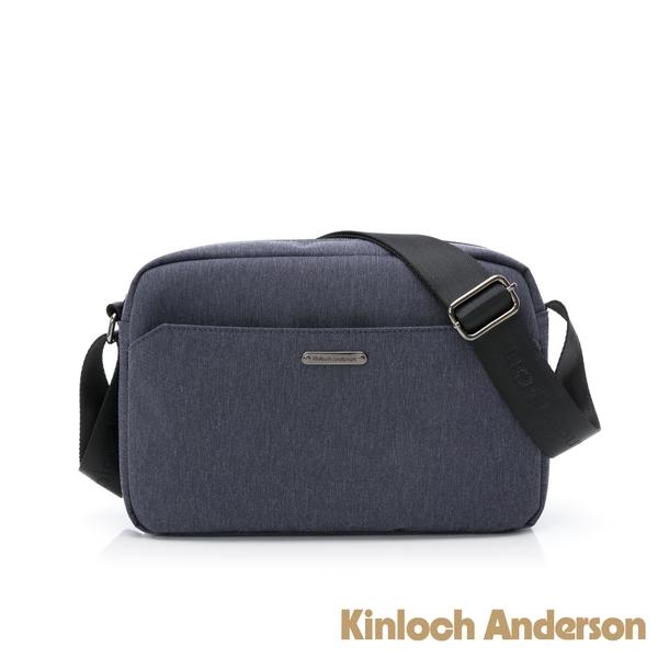 金安德森 FORCE 極簡造型方型斜背包 藍色