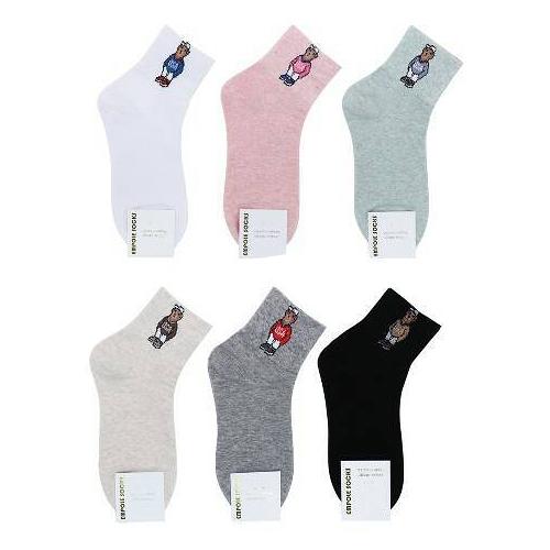 【花想容】韓國襪子 熊熊襪子 中長襪 學生襪 泰迪熊