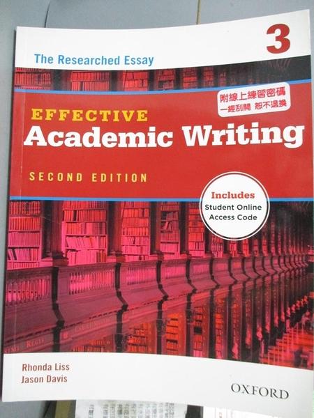 【書寶二手書T9/語言學習_QXO】Effective Academic Writing: Level 3: the R
