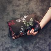 原創設計韓版手包新款蝴蝶圖案手拿包潮流尚男女手拿包信封包潮Mandyc