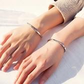 手鐲女情侶手鏈一對男閨蜜ins小眾設計感款紀念生日禮物情侶手環 橙子精品