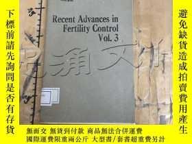 二手書博民逛書店Recent罕見Advances in Fertility Co