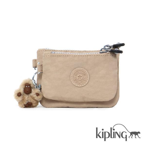 Kipling 瑪奇朵素面零錢包-中